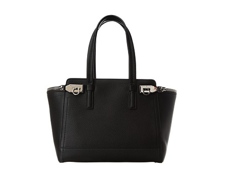 Salvatore Ferragamo - Verve (Medium) (Nero Mvit Elan) Tote Handbags