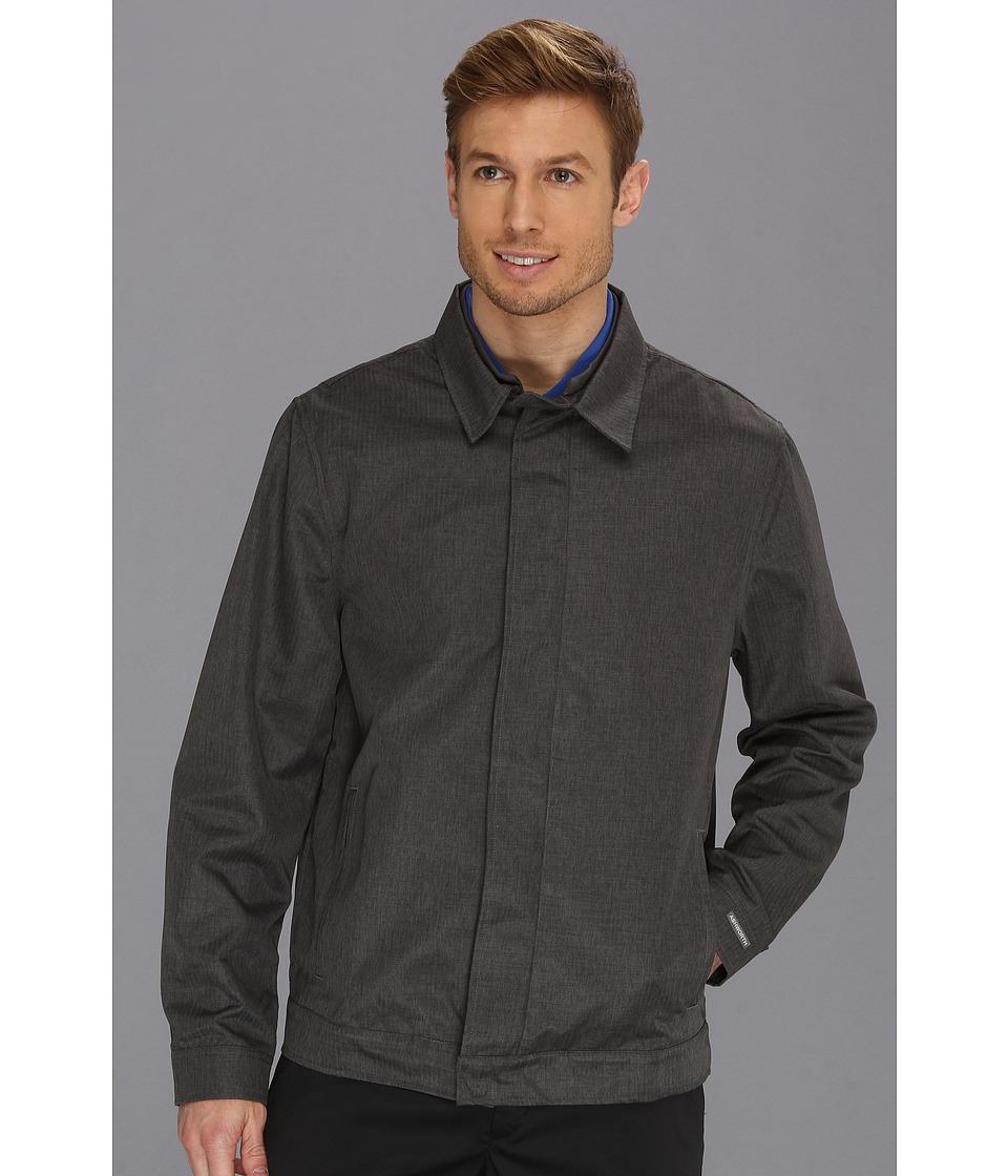 Ashworth - AM5032 Melange Herring M Fiber Jacket (Dark Grey) Men's Coat