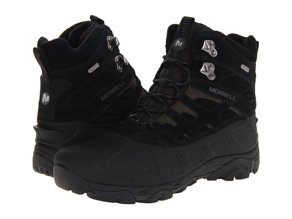 Merrell - Moab Polar Waterproof (Black) Men's Hiking Boots