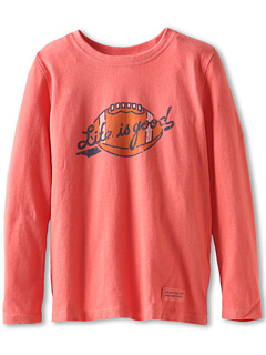 SALE! $16.01 - Save $2 on Life is good Kids Boys` Toddler Crusher L S Football (Toddler) (Sunset Coral) Apparel - 11.06% OFF $18.00