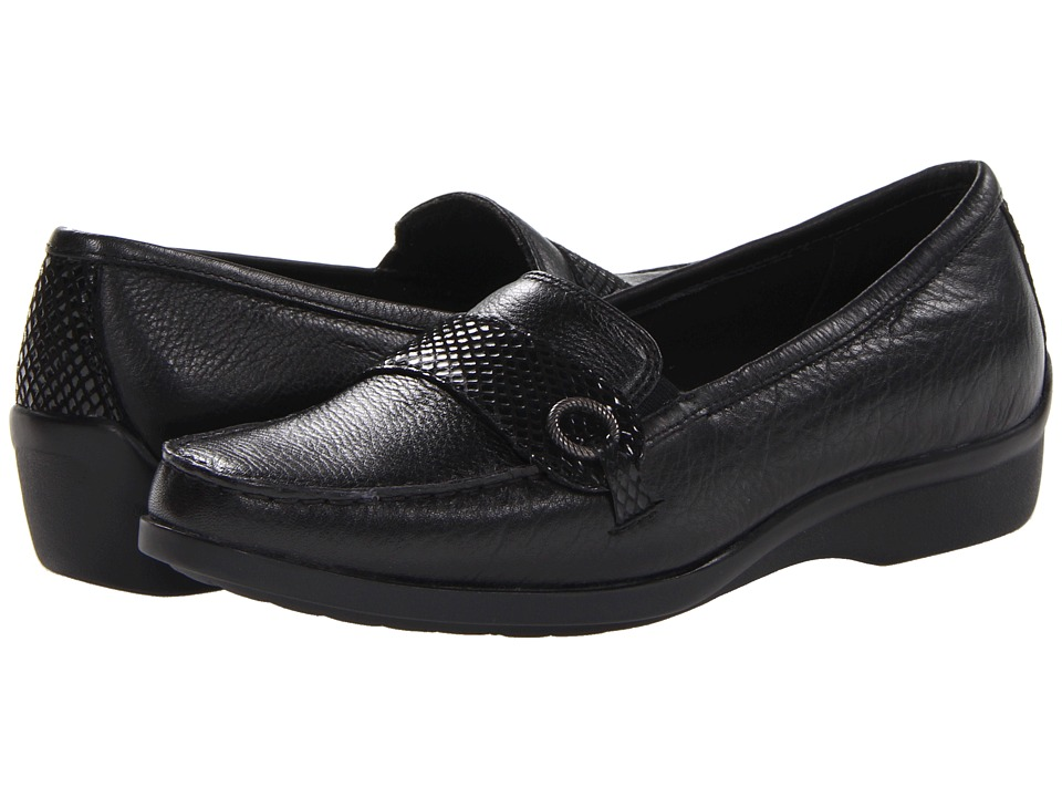 Aravon - Winnie (Black) Women's Slip on Shoes