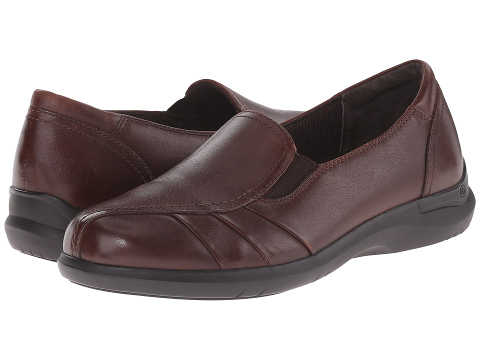 Aravon Faith (Brown) Women's Slip on  Shoes