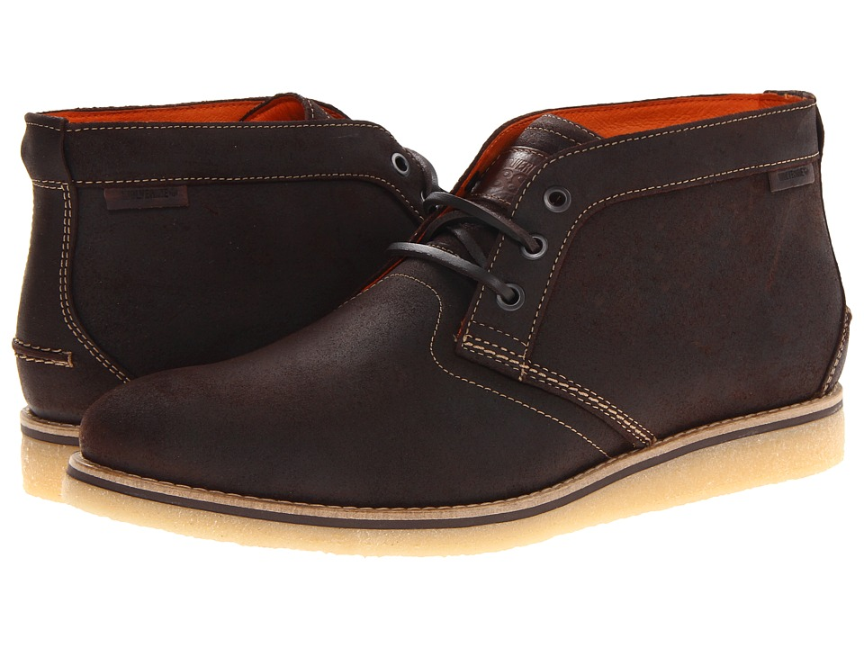 Wolverine - Julian Crepe Chukka (Dark Brown Suede) Men's Boots