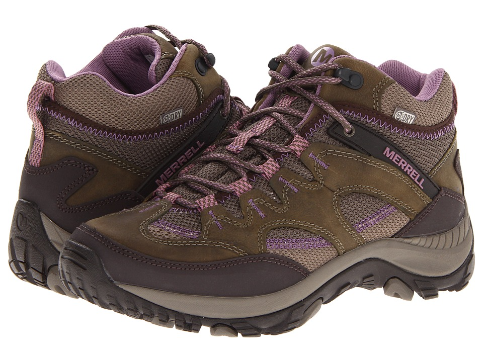 Merrell - Salida Mid Waterproof (Brindle) Women's Hiking Boots