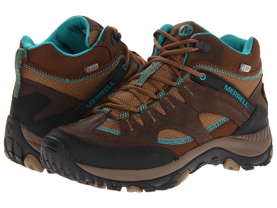 Merrell - Salida Mid Waterproof (Dark Earth) Women's Hiking Boots