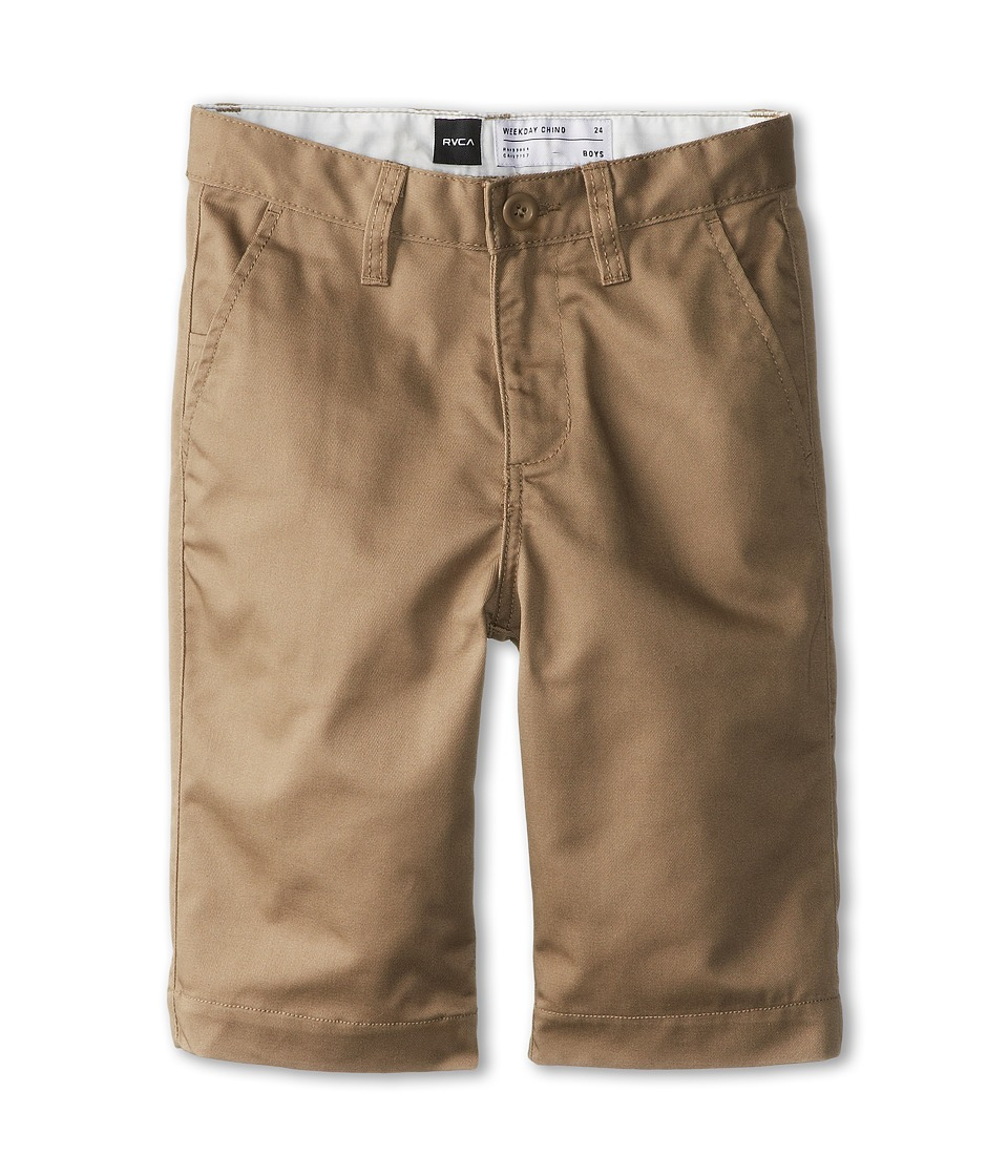 RVCA Kids - Weekday Short II (Big Kids) (Dark Khaki) Boy's Shorts