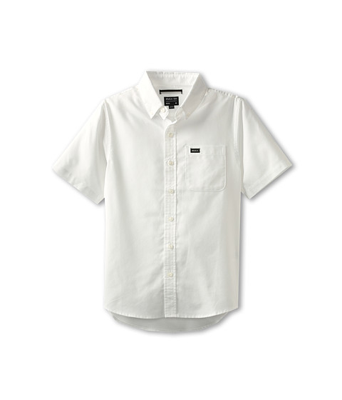 RVCA Kids - That'll Do Oxford S/S (Big Kids) (White) Boy's Short Sleeve Button Up