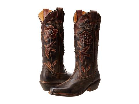 Bed Stu - Valencia (Black/Teak) Cowboy Boots