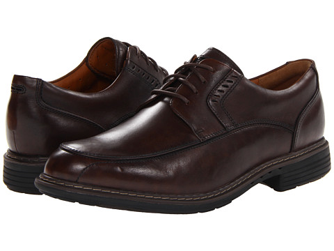 Clarks - Un.Rage (Brown Leather) Men's Shoes