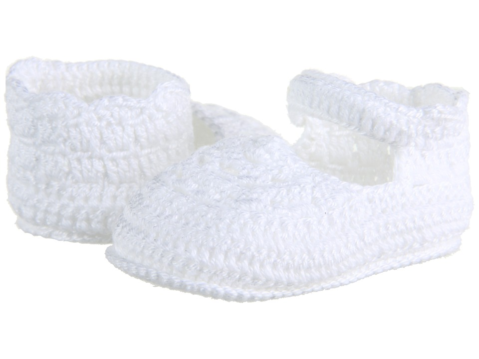 Jefferies Socks - Mary Jane Bootie (Infant) (White) Girls Shoes