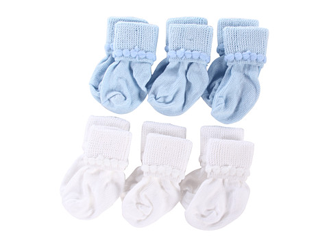 Jefferies Socks - Rock-A-Bye 12-Pack (Infant/Toddler) (Asst B (6) White (6) Lt. Blue) Girls Shoes