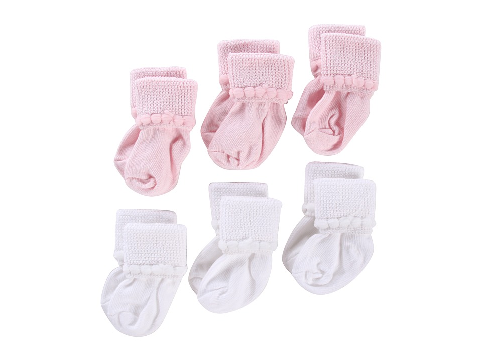 Jefferies Socks - Rock-A-Bye 12-Pack (Infant/Toddler) (Asst G (6) White (6) Pink) Girls Shoes