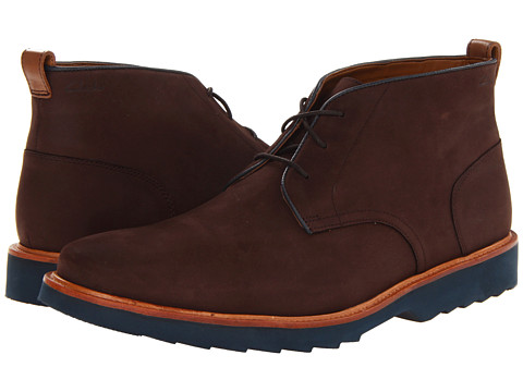 Clarks - Fulham Hi (Brown Suede) Men's Lace-up Boots