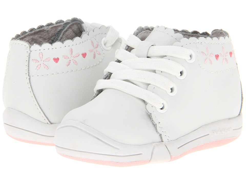 Jumping Jacks Kids - Pinky (Infant/Toddler) (White Leather) Girls Shoes
