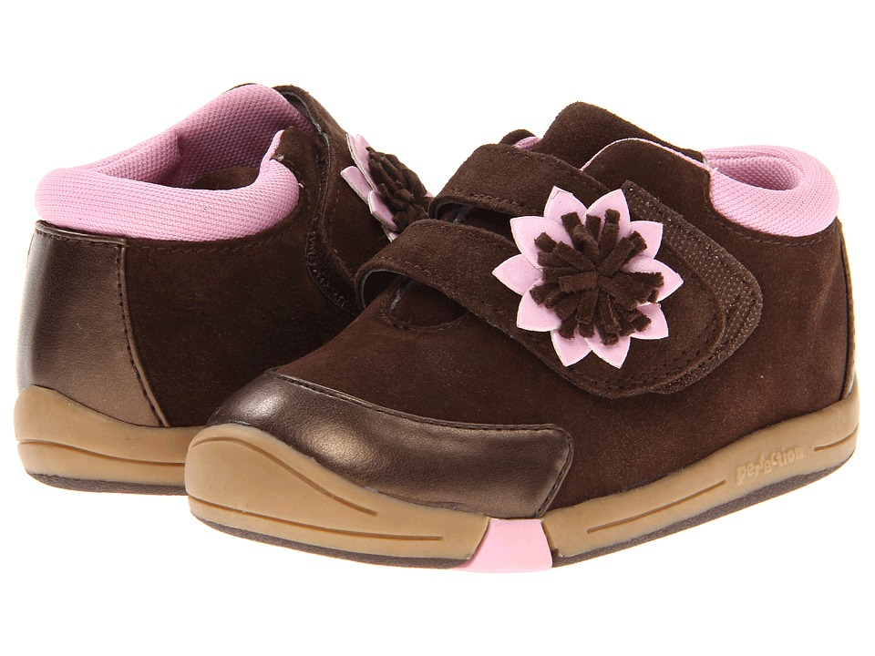 Jumping Jacks Kids - Baby Flower (Toddler) (Chocolate Brown Suede) Girls Shoes