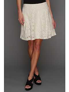 SALE! $88 - Save $0 on kensie Soft Floral Lace Skirt (Birch) Apparel - 0.00% OFF $88.00