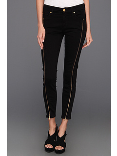 SALE! $119.99 - Save $95 on 7 For All Mankind Cropped Skinny w Long Side Zips (Black) Apparel - 44.19% OFF $215.00
