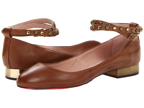 Betsey Johnson - Caddy (Cognac) Women's Flat Shoes