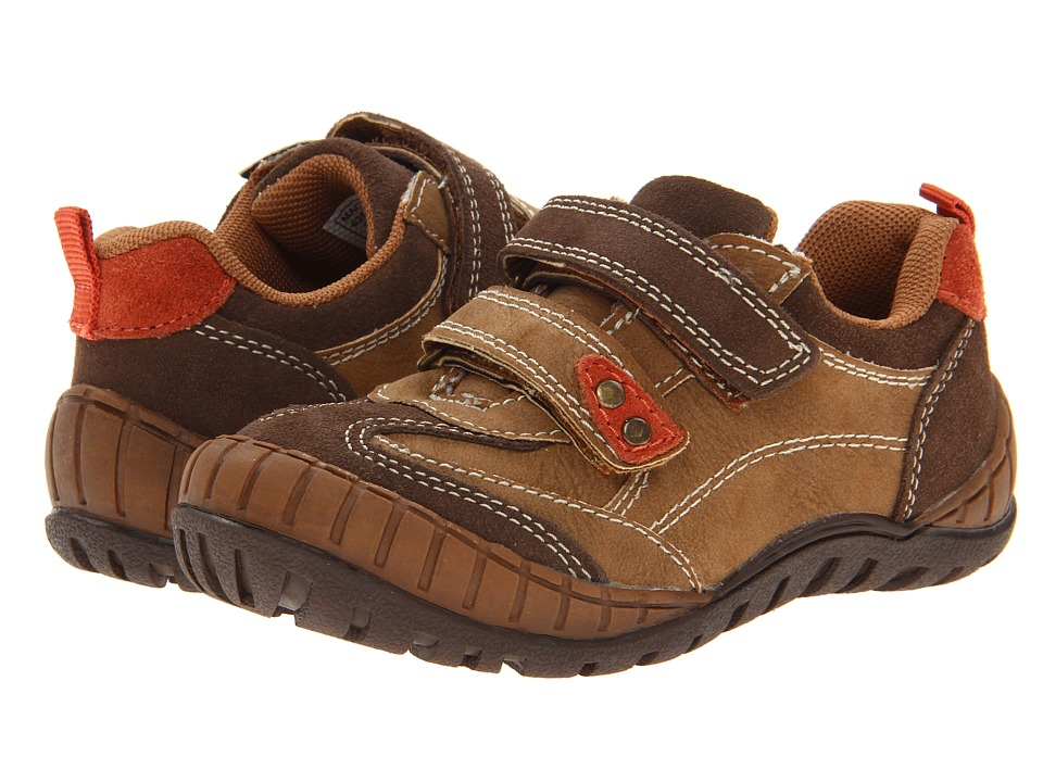 Jumping Jacks Kids - Mack (Toddler/Little Kid) (Dark Brown Suede/Orange) Boys Shoes