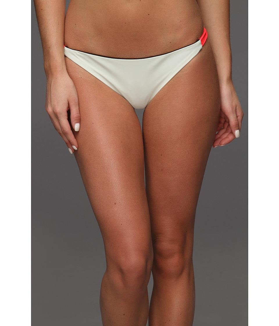 Image of Basta - Zunzal Reversible Bungee Bikini Bottom (Noir/Ivory/Hot Coral) Women's Swimwear