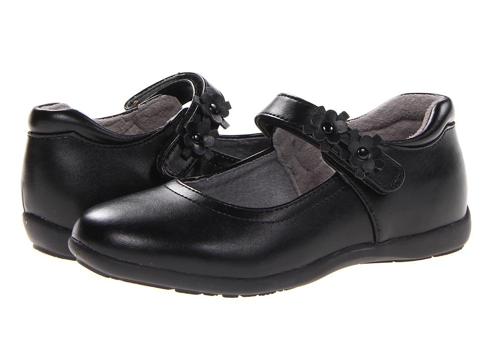 Jumping Jacks Kids - Balleto - Sherry (Toddler/Little Kid/Big Kid) (Black Leather) Girls Shoes