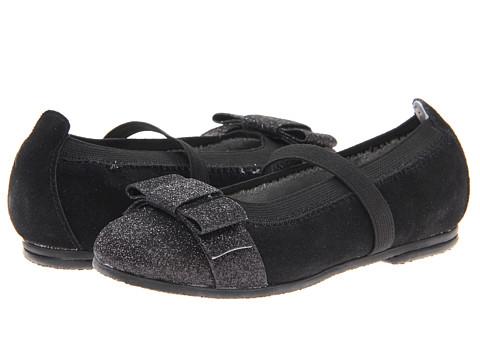 Jumping Jacks Kids - Balleto - Sparkle (Toddler/Little Kid/Big Kid) (Black Suede) Girls Shoes