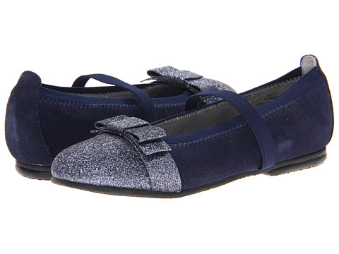 Jumping Jacks Kids - Balleto - Sparkle (Toddler/Little Kid/Big Kid) (Dark Navy Suede) Girls Shoes