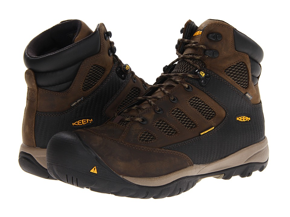 Keen Utility - Tucson Mid (Black Olive/Burnt Olive) Men's Work Lace-up Boots