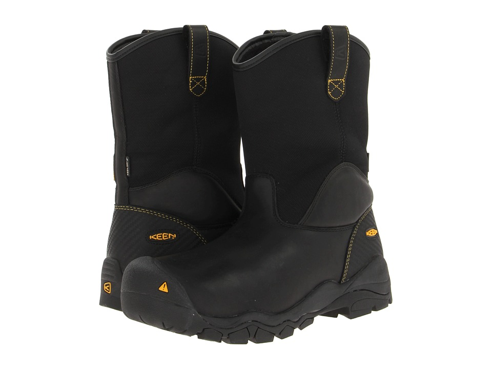 Keen Utility - Louisville Wellington Steel Toe (Black) Men's Work Pull-on Boots