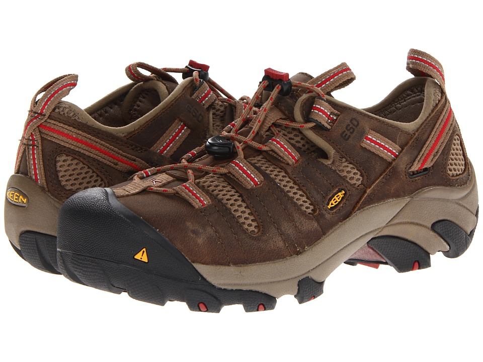 Keen Utility - Atlanta Cool ESD (Shitake/Chili Pepper) Women's Work Boots