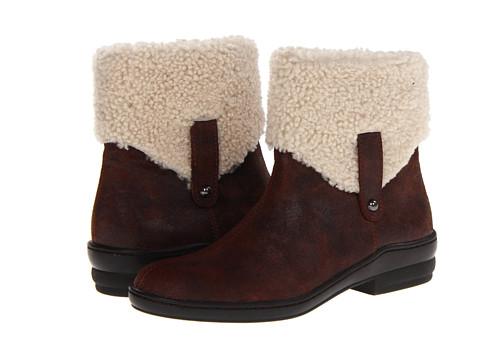 David Tate - Walk Boot (Brown) Women's Zip Boots