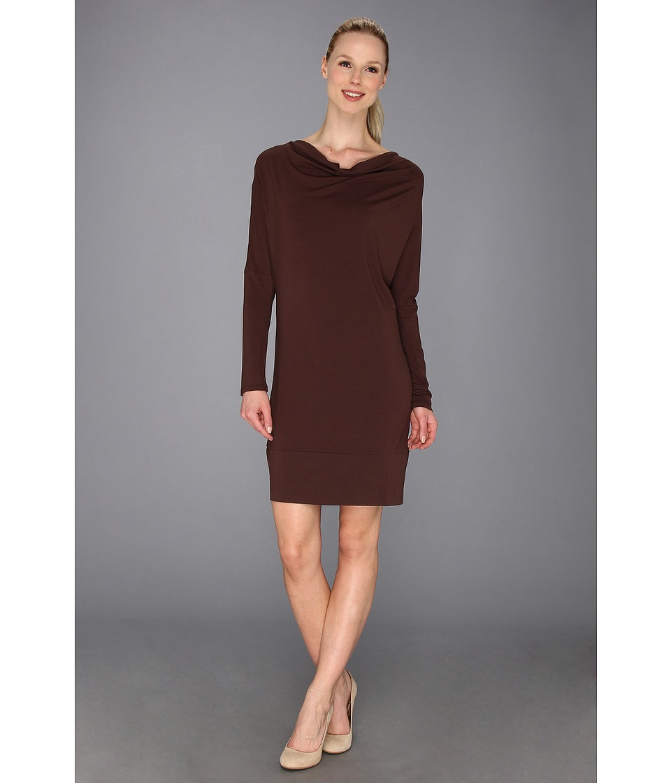 Tommy Bahama - Tambour Long Sleeve Cowl Dress (Brazil Nut) Women's Dress