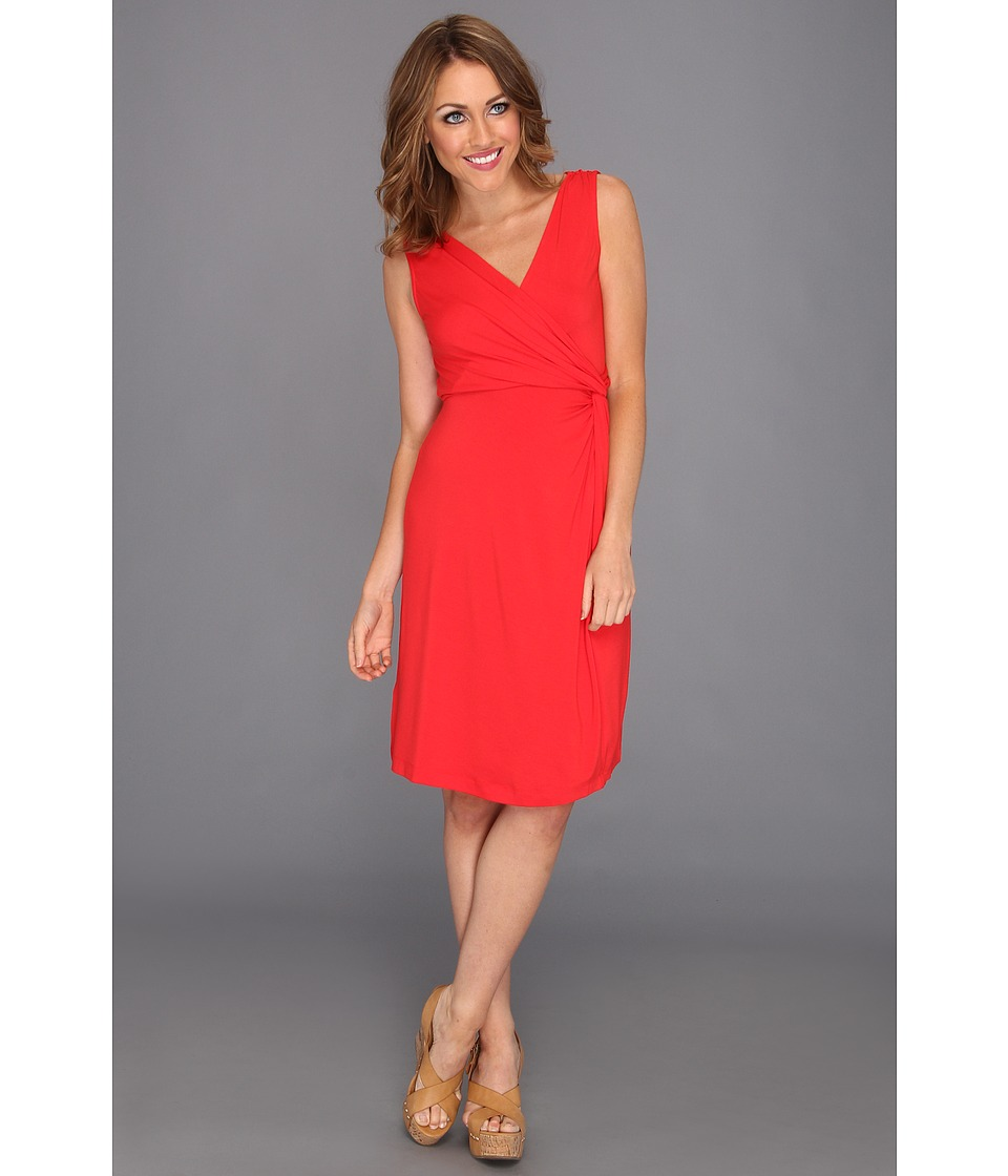 Tommy Bahama Tambour Side Knot Dress Womens Dress (Red)