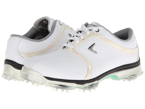 Callaway - XT Tour (White/Khaki) Women's Golf Shoes