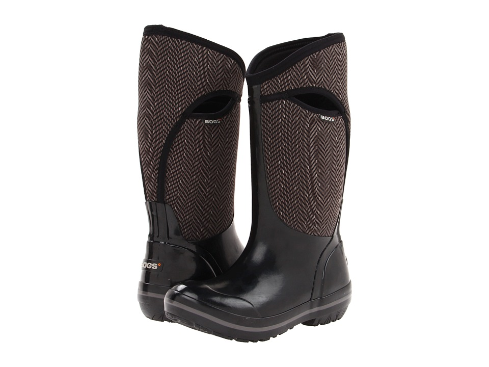 Bogs Herringbone Tall (Black) Women