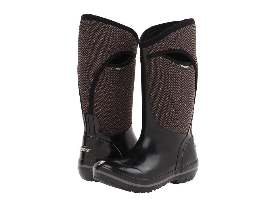 Bogs - Herringbone Tall (Black) Women's Waterproof Boots
