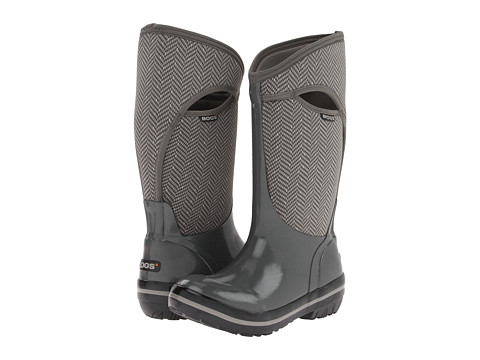 Bogs - Herringbone Tall (Gunmetal) Women's Waterproof Boots