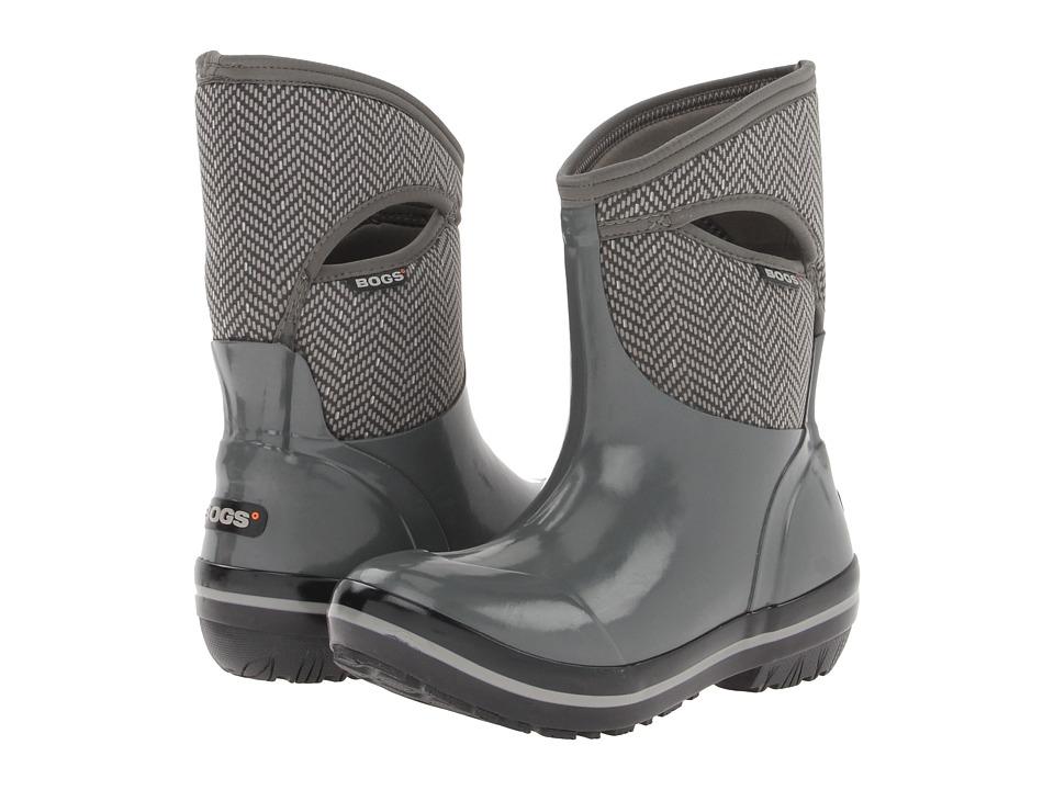 Bogs - Herringbone Mid (Gunmetal) Women's Waterproof Boots