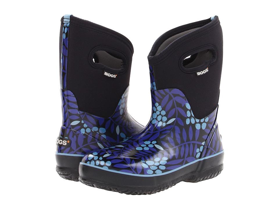 Bogs - Winterberry Mid Classic (Blue Multi) Women's Waterproof Boots