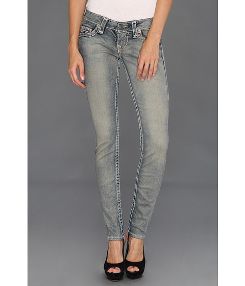 True Religion - Stella Grey/Dusty Super T Low-Rise Skinny in Trail Driver (Trail Driver) Women