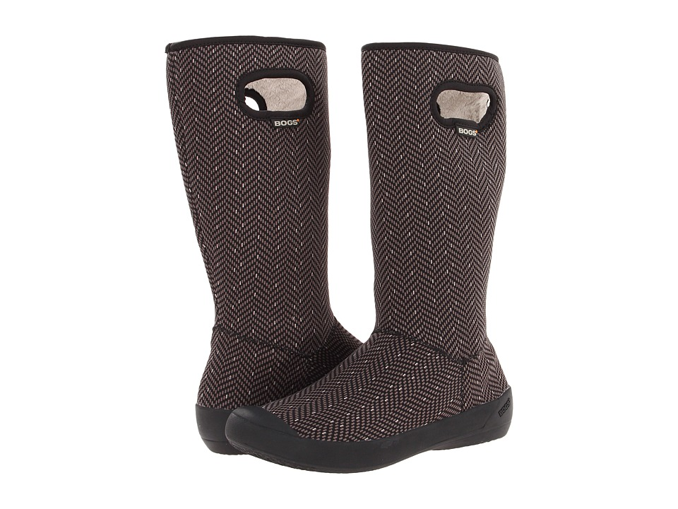 Bogs Summit (Black Herringbone) Women