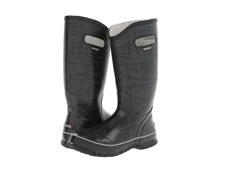 Bogs Linen Rainboot (Black) Women's Rain Boots