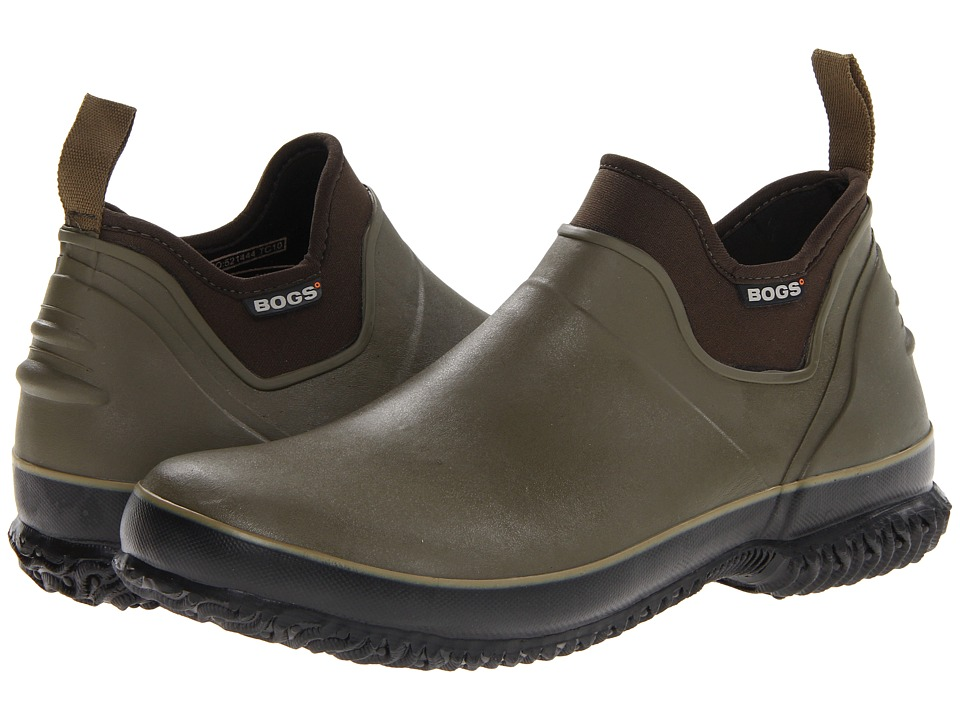 Bogs - Urban Farmer (Dark Olive) Men's Slip on Shoes