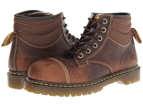Dr. Martens Work - Lyall ST 6 Eye Cap Toe Boot (Tan Greenland/Brown Ballistic Mesh) Work Boots