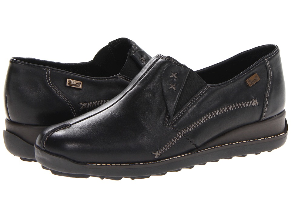 Rieker - 44253 Doro 53 (Black) Women's Slip on Shoes