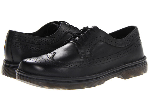 Dr. Martens Work - Berkshire 5-Eye Brogue (Black Polished Wyoming) Men
