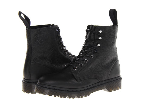 Dr. Martens - Hadley 8-Tie Boot (Black Inuck) Men's Lace-up Boots