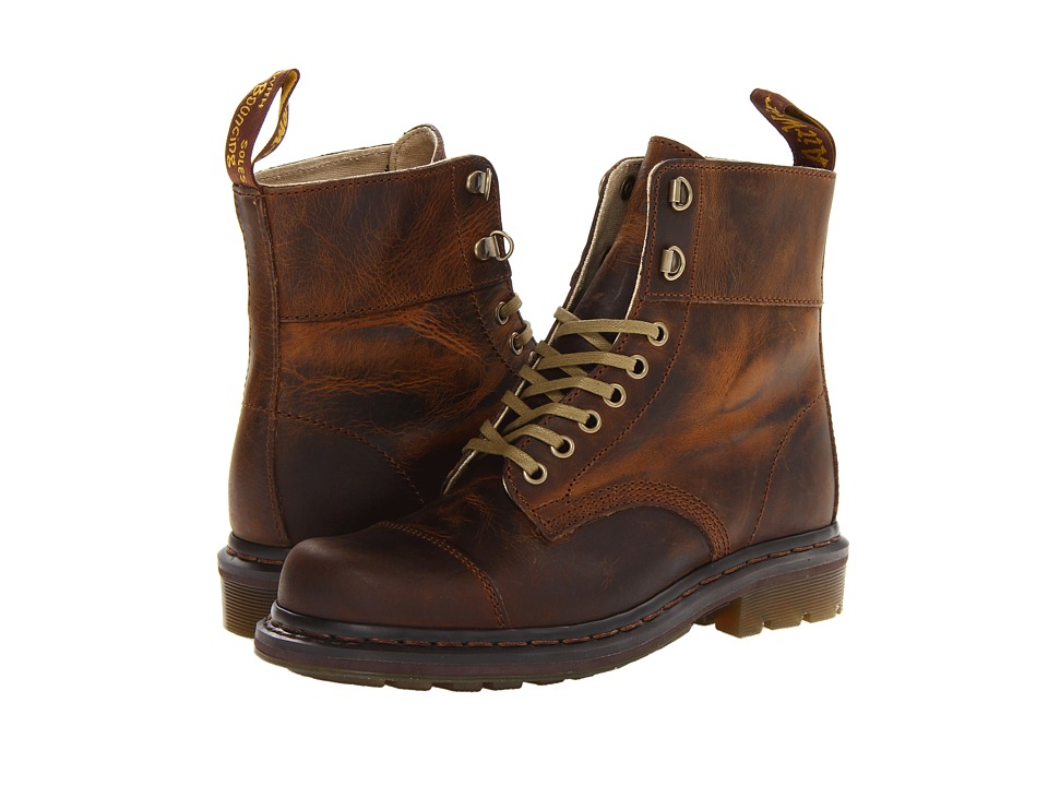 Dr. Martens Gideon Fold Down Lace Boot (Tan Greenland) Men