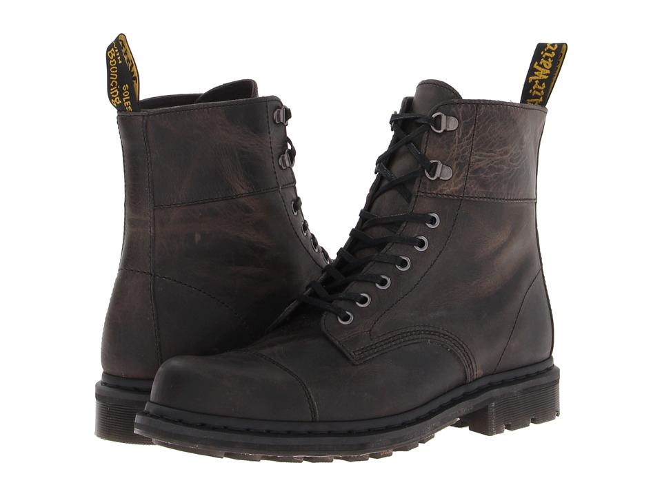 Dr. Martens - Gideon Fold Down Lace Boot (Black Greenland) Men's Lace-up Boots