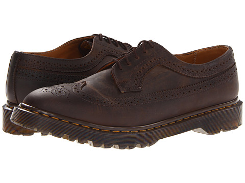 Dr. Martens - 3989 Brogue Shoe (Gaucho Crazy Horse) Men's Lace Up Wing Tip Shoes